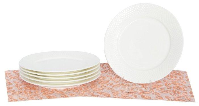 Wilmax England Набор обеденных тарелок от Юлии Высоцкой 25,5 см, 6 шт