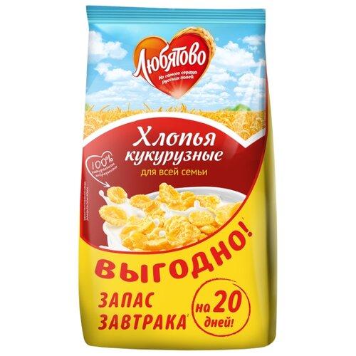 Готовый завтрак Любятово Хлопья кукурузные, пакет, 600 г
