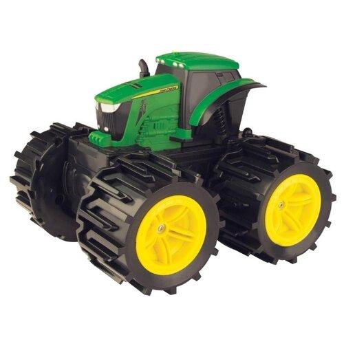 Купить Трактор Tomy John Deere Mega Monster Wheels (Т11312) черный/зеленый/желтый, Машинки и техника
