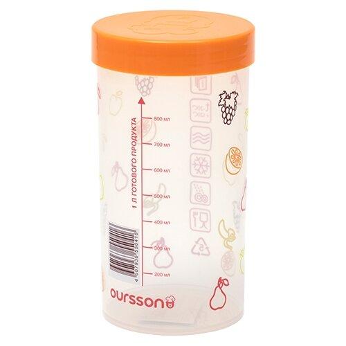 Oursson Банка для жидких и сыпучих продуктов JA55041/OR 1000 мл oursson банка для жидких и сыпучих продуктов ja55042 ga 1000 мл