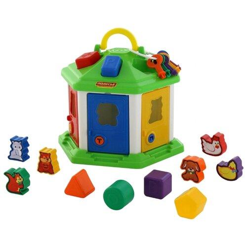 полесье сортер полесье домик для зверей в коробке Сортер Полесье Логический домик №2