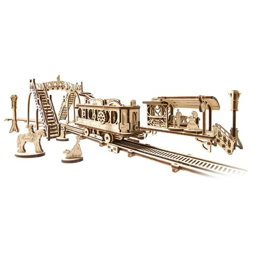 Купить Сборная модель UGEARS Трамвайная линия, Сборные модели