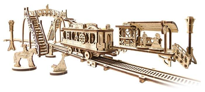Сборная модель UGEARS Трамвайная линия,