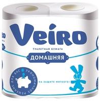 Туалетная бумага Veiro Домашняя белая двухслойная 12 шт.
