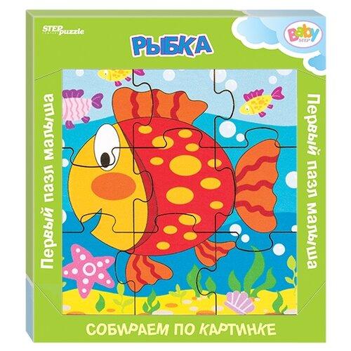 Фото - Рамка-вкладыш Step puzzle Baby Step Рыбка (89047), 9 дет. рамка вкладыш step puzzle baby step мышонок 89069 7 дет