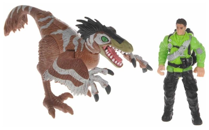 Игровой набор Chap Mei Dino Valley - Ютараптор и охотник со снаряжением 520151-2