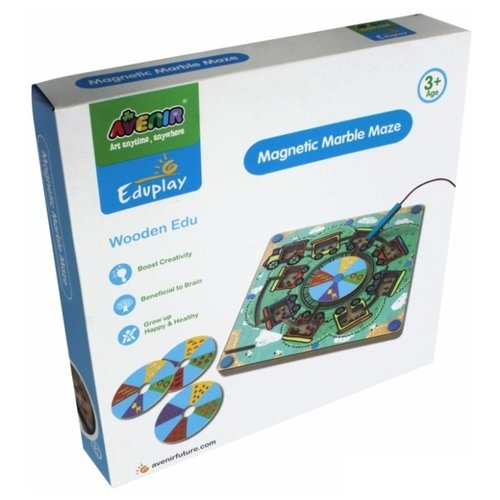 Головоломка AVENIR Деревянный лабиринт с магнитными шариками (EP3048) зеленый/бежевый набор для аппликаций avenir