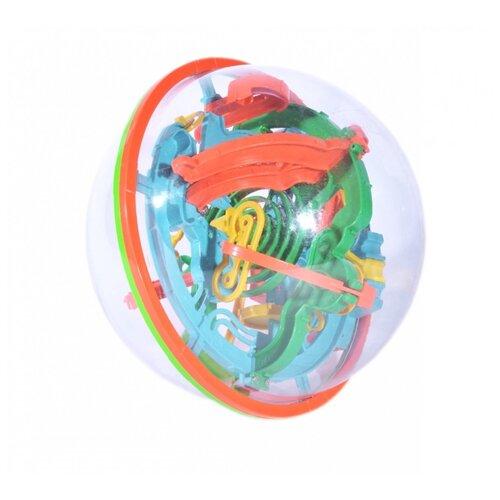 Головоломка BRADEX Шар-лабиринт 3D (DE 0033) красный/зеленый/синий игрушка головоломка bradex шар лабиринт