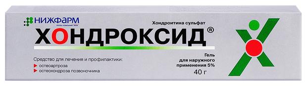 Хондроксид гель д/нар. прим. 5% 40г туба №1