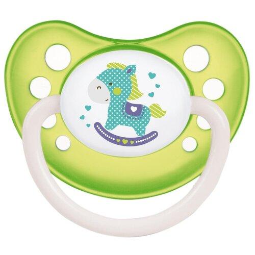 Купить Пустышка силиконовая анатомическая Canpol Babies Toys 0-6 м (1 шт) зеленый, Пустышки и аксессуары