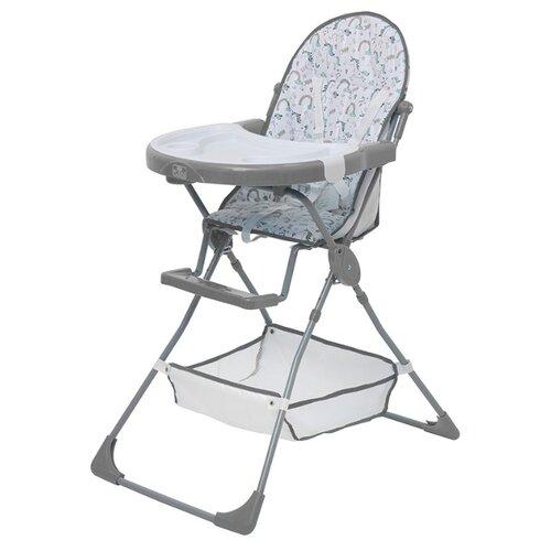 Стульчик для кормления Polini 252 единорог радуга серый стульчик для кормления inglesina my time цвет sugar az91k9sgaru