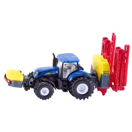 Купить Трактор Siku с опрыскивателем New Holland (1799) 1:87 19.5 см синий/желтый/красный, Машинки и техника