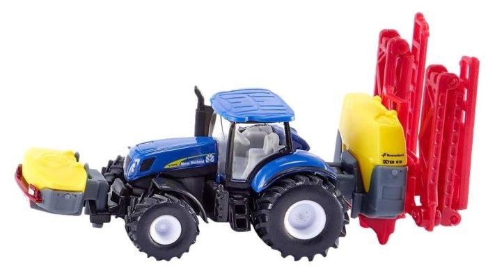 Трактор Siku с опрыскивателем New Holland (1799) 1:87 19.5 см синий/желтый/красный