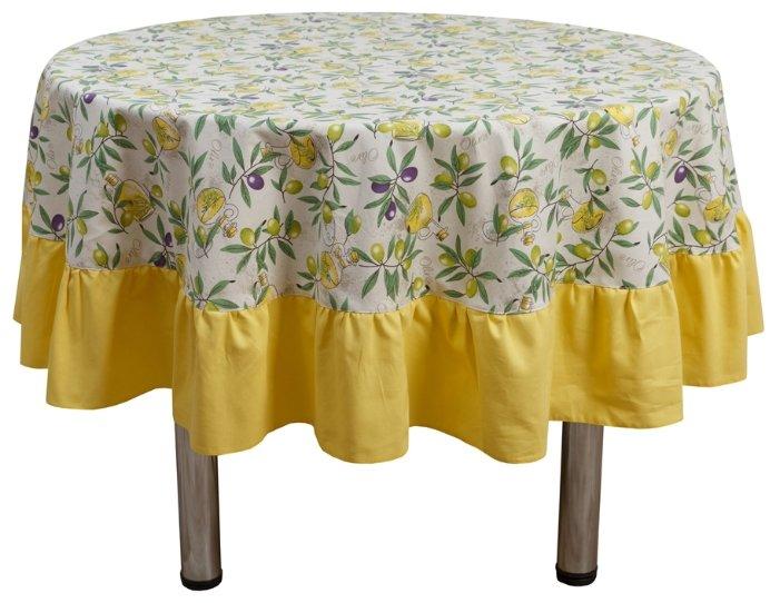 Скатерть Fresca Design Olives с рюшей (skr79) 185 см