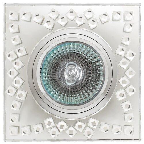 Встраиваемый светильник De Fran FT 509, хром зеркальный / стразы прозрачныеВстраиваемые светильники<br>