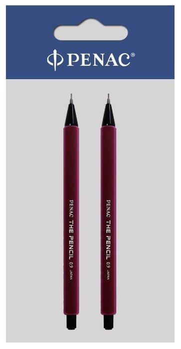 Penac Механический карандаш The Pencil HВ, 0.9 мм, 2 шт.