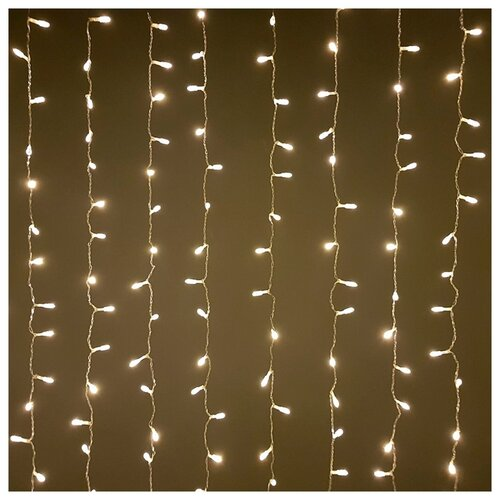 Гирлянда Sh Lights Занавес 150 х 250 см OLDCL500, 500 ламп, теплые белые диоды/прозрачный провод гирлянда sh lights 250 см