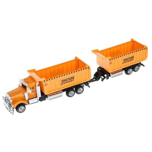 Купить Грузовик ТЕХНОПАРК с прицепом (358A10-R) оранжевый, Машинки и техника