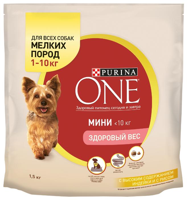 Корм для собак Purina ONE МИНИ Здоровый вес Индейка с рисом