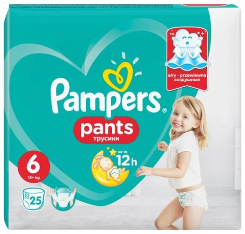 5d7ff0fce752 Купить Pampers трусики Pants 6 (15+ кг) 25 шт. по выгодной цене на ...