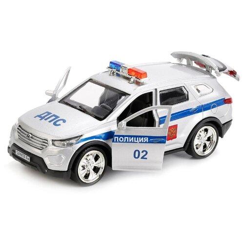 Купить Легковой автомобиль ТЕХНОПАРК Hyundai Santa Fe Полиция (SANTAFE-POLICE) 12 см белый, Машинки и техника