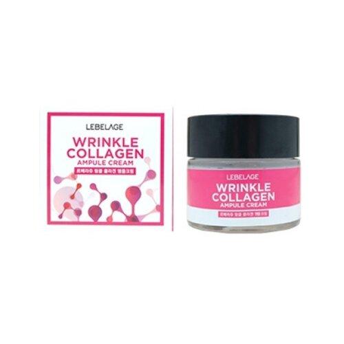 Lebelage Ampule Cream Wrinkle Collagen Ампульный крем для лица с коллагеном против морщин, 70 мл увлажняющий лосьон для мужчин с коллагеном и зеленым чаем 150 мл lebelage