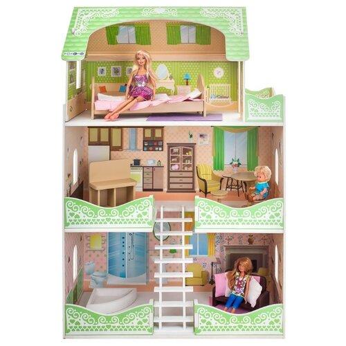 Купить PAREMO кукольный домик Луиза Виф (с мебелью) PD318-10, зеленый/бежевый, Кукольные домики