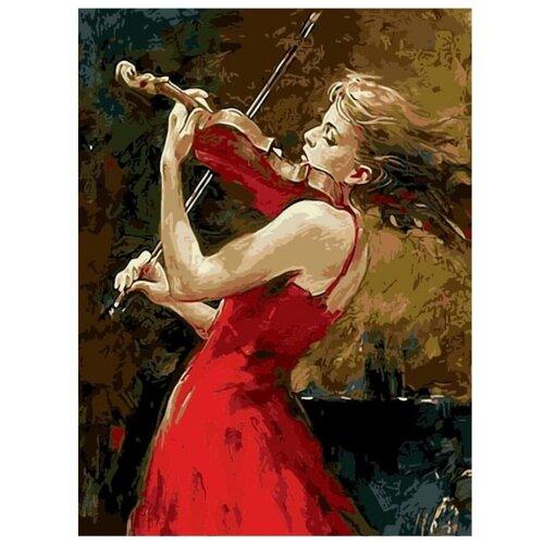 Купить Цветной Картина по номерам Ведущая скрипка 40х50 см (MG7627), Картины по номерам и контурам