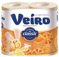 Туалетная бумага Veiro Classic Оранжевое небо двухслойная