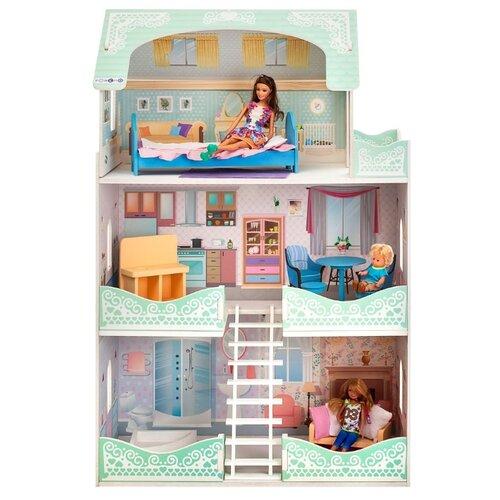 Купить PAREMO кукольный домик Вивьен Бэль (с мебелью) PD318-09, белый/голубой/розовый, Кукольные домики
