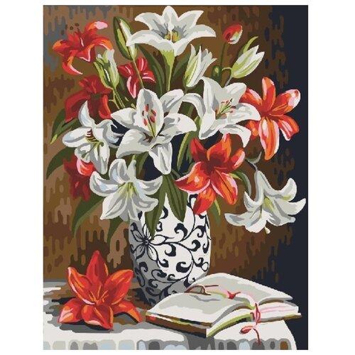 Купить Color Kit Картина по номерам Букет лилий 40х50 см (CG889), Картины по номерам и контурам