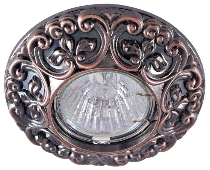 Встраиваемый светильник De Fran FT 1234 RAB, красное античное золото