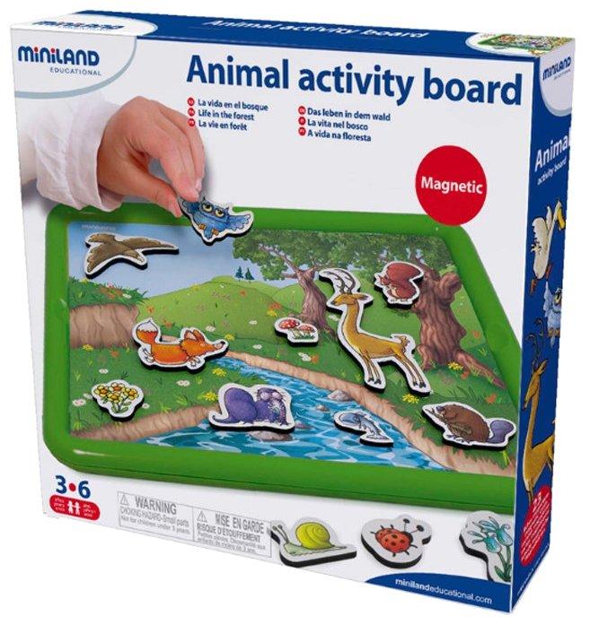 Доска для рисования детская Miniland Животные в лесу (97934)