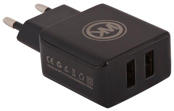 Сетевая зарядка WK Blanc 2U + кабель Lightning (WP-U11)