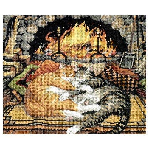 Купить Dimensions Набор для вышивания Гобелен Спящие коты 36 х 30 см (120007), Наборы для вышивания