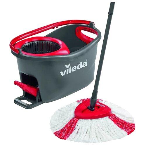 Набор Vileda Easy Wring & Clean Turbo 151153/140825 серо-красныйШвабры и насадки<br>