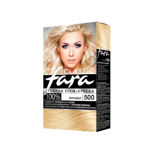 Fara Classic Стойкая крем-краска для волос, 500, блондор