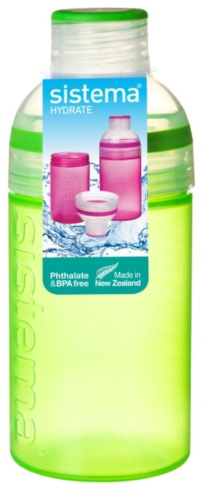 Бутылка Sistema Hydrate 820 питьевая Трио 0.48 л