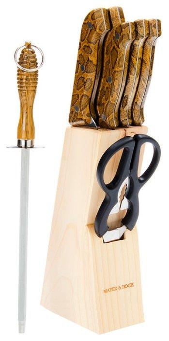 Набор MAYER & BOCH 5 ножей, ножницы и мусат с подставкой 636 — купить по выгодной цене на Яндекс.Маркете