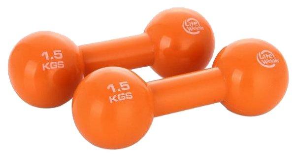 Набор гантелей цельнолитых Lite Weights 3968EG 2x1.5 кг