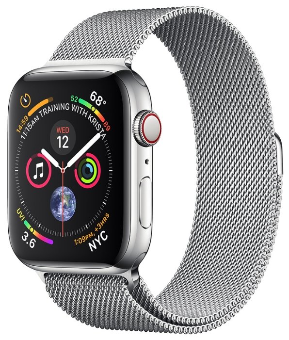 Apple Часы Apple Watch Series 4 GPS + Cellular 40mm Stainless Steel Case with Milanese Loop