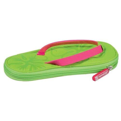 BRUNNEN Пенал Пляжные тапочки (49022-04\BCD) зеленый/розовый