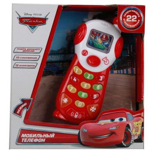 цена на Интерактивная развивающая игрушка Умка Мобильный телефон Тачки белый/красный