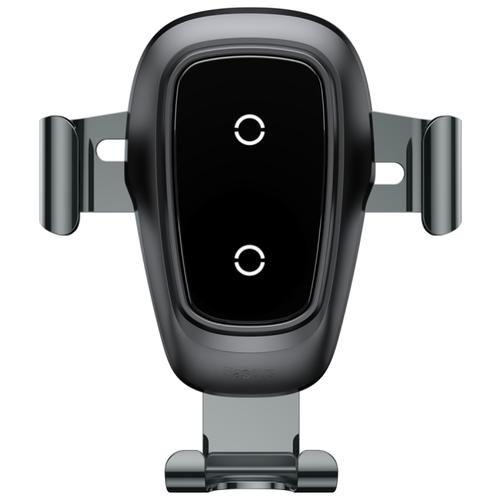 Купить Держатель с беспроводной зарядкой Baseus Metal Wireless Charger Gravity Car Mount (Air Outlet Version) черный