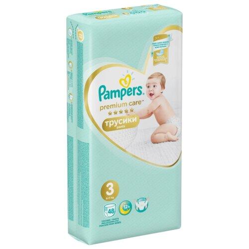 Купить Pampers Premium Care трусики 3 (6-11 кг) 48 шт., Подгузники
