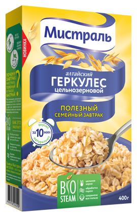 Мистраль Хлопья Геркулес Алтайский цельнозерновой, 400 г