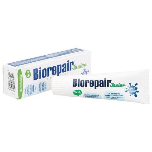 Купить Зубная паста Biorepair Junior Mint детская со вкусом сладкой мяты от 7 до 14 лет, 75 мл, Гигиена полости рта