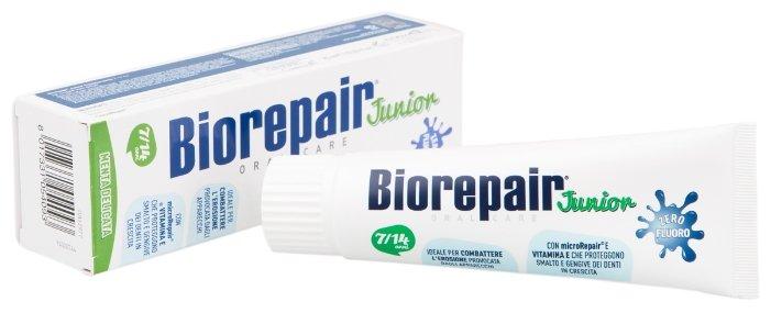 Зубная паста Biorepair Junior Mint детская со вкусом сладкой мяты от 7 до 14 лет, 75 мл