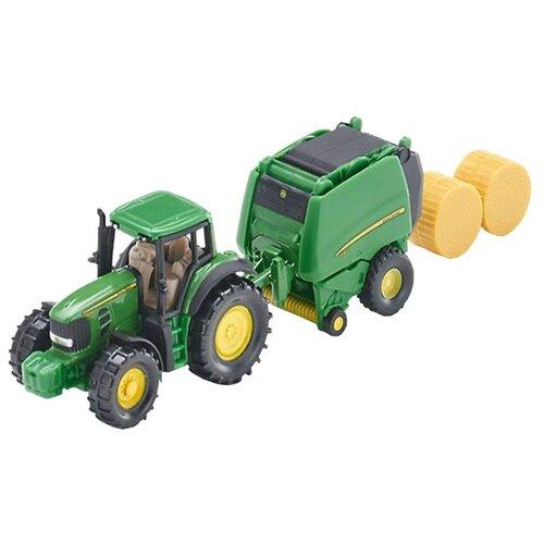 Купить Трактор Siku с пресс-подборщиком (1665) 1:87 зеленый, Машинки и техника