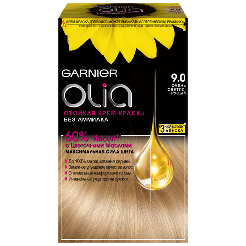 Olia cтойкая крем-краска для волос, 160 мл, 9.0, Очень светло-русыйКраска<br>